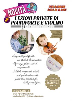 Lezioni Private di Pianoforte e Violino per Bambini