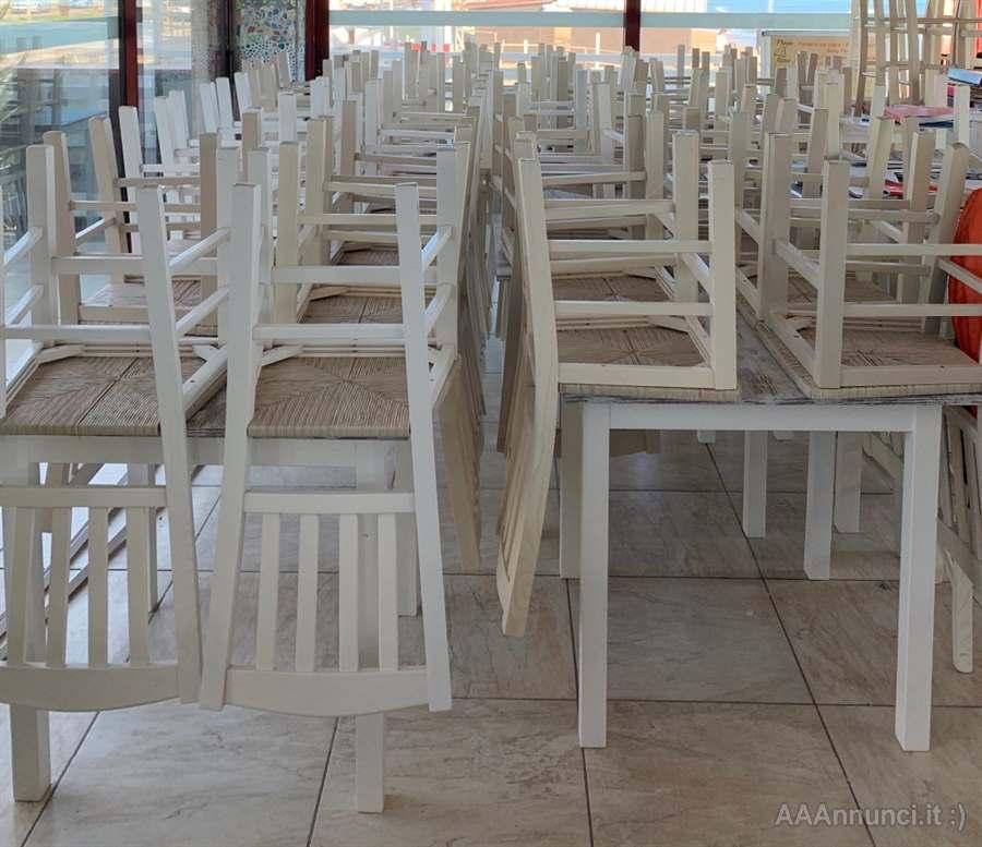 Tavoli E Sedie Ristorante Pizzerie Pub Color Finta Colore Bianco Macerata